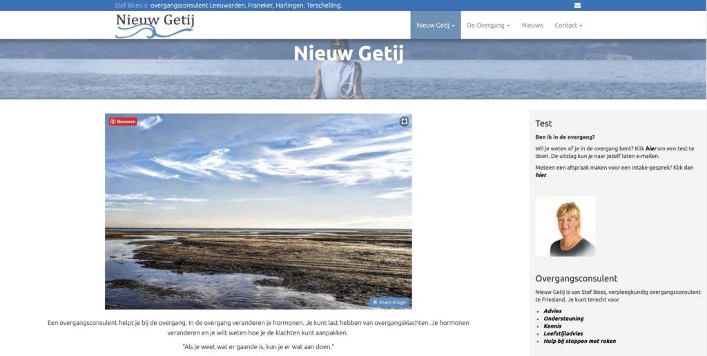 website voor Nieuw Getij Overgangsconsulent